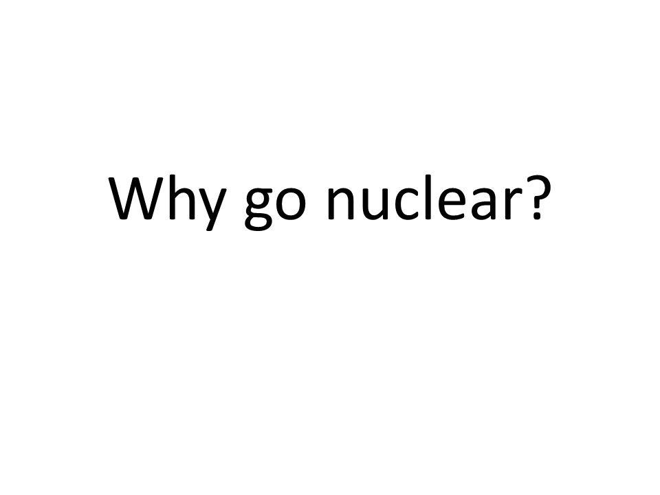 Why go nuclear?