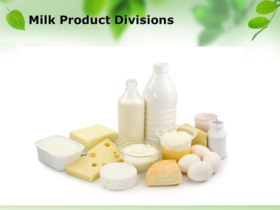 Milk Product Divisions