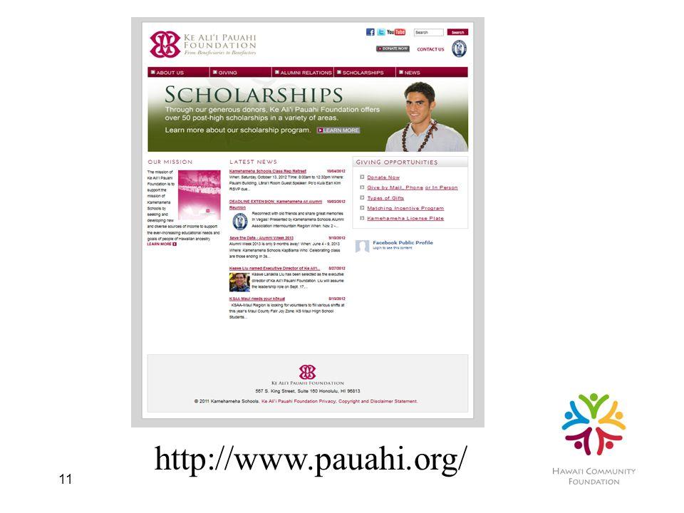 11 http://www.pauahi.org/