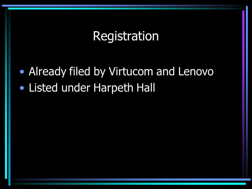 Registration Already filed by Virtucom and Lenovo Listed under Harpeth Hall