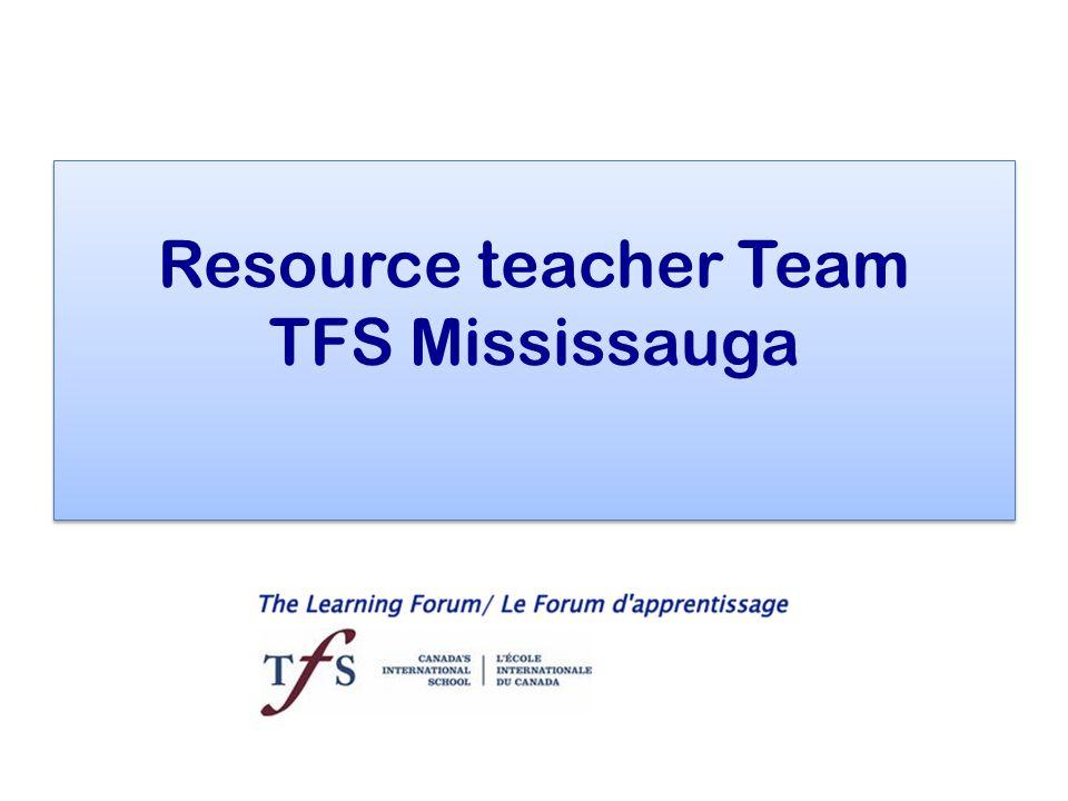Resource teacher Team TFS Mississauga