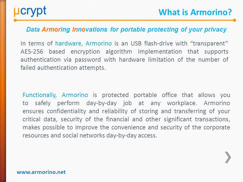µcrypt www.armorino.net µcrypt What is Armorino.