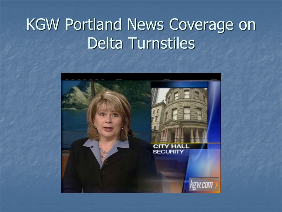 KGW Portland News Coverage on Delta Turnstiles