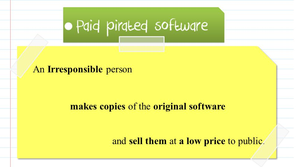 Paid pirated software is an illegal copy of software that is not free to use, and people have to purchase it.
