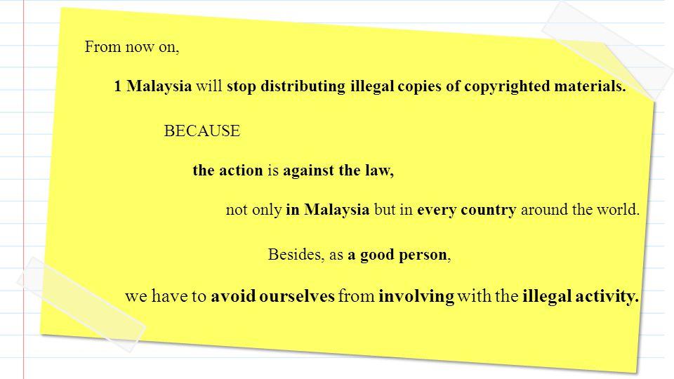 S o, please 1 Malaysia.