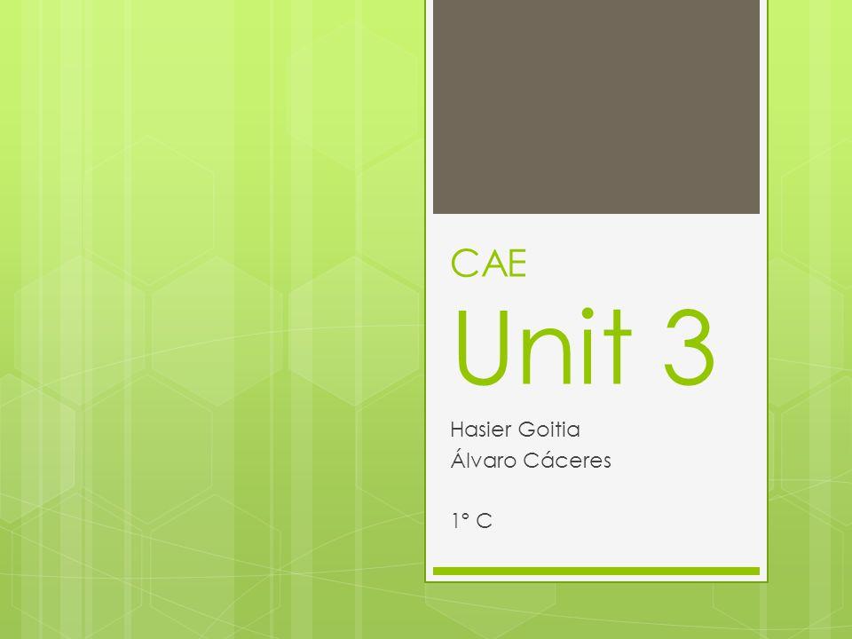 CAE Unit 3 Hasier Goitia Álvaro Cáceres 1º C