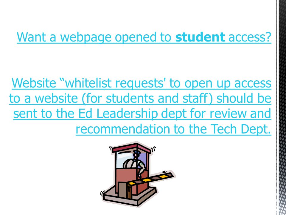 Important: Never allow a student without direct and constant supervision on any computer logged onto by a staff member