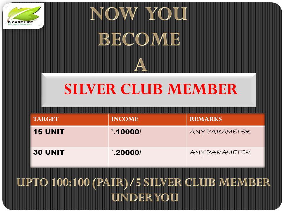 SILVER CLUB MEMBER