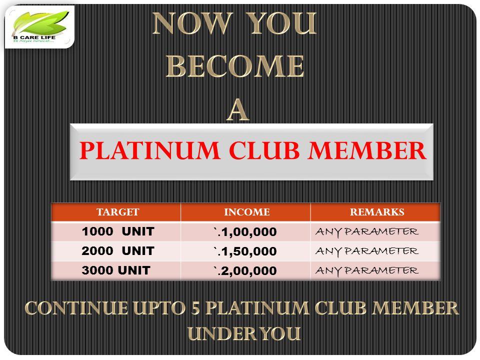 PLATINUM CLUB MEMBER