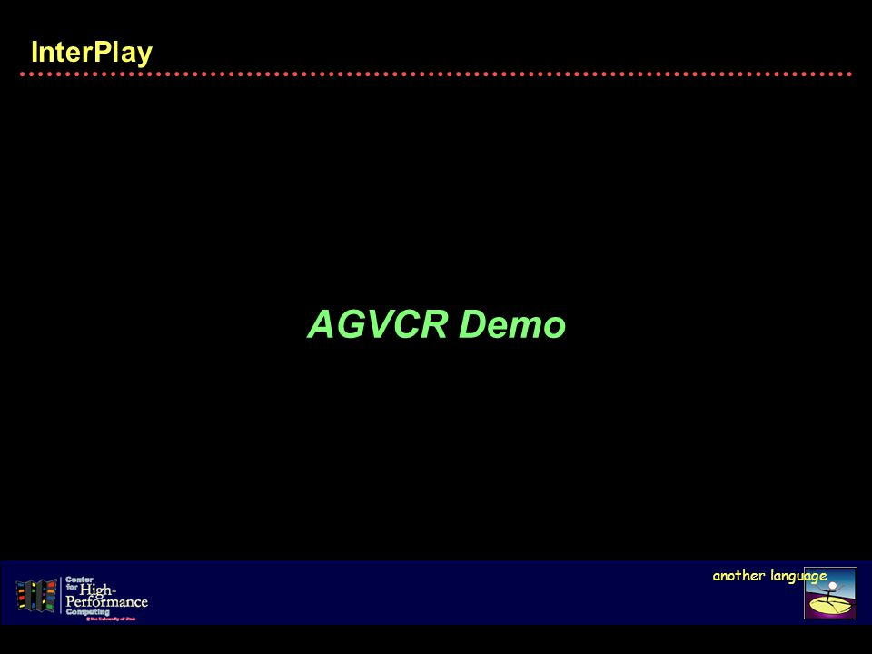 InterPlay another language AGVCR Demo