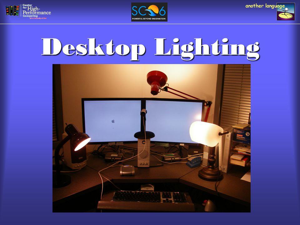 Desktop Lighting another language