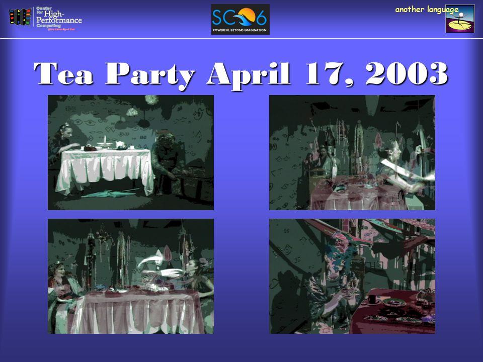 Tea Party April 17, 2003 another language