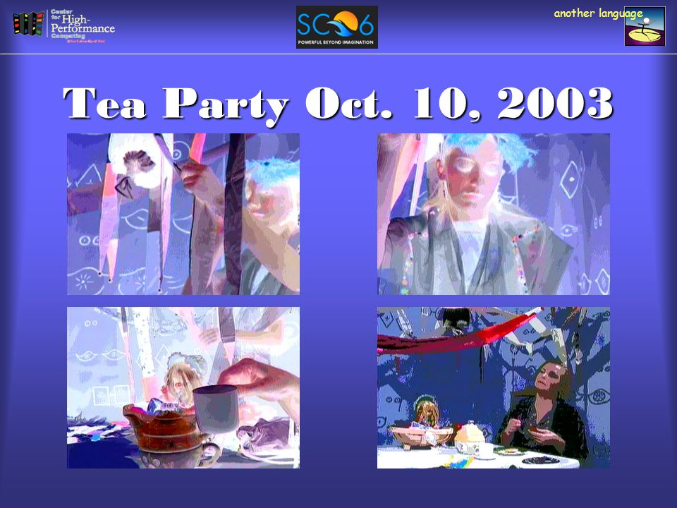 Tea Party Oct. 10, 2003 another language