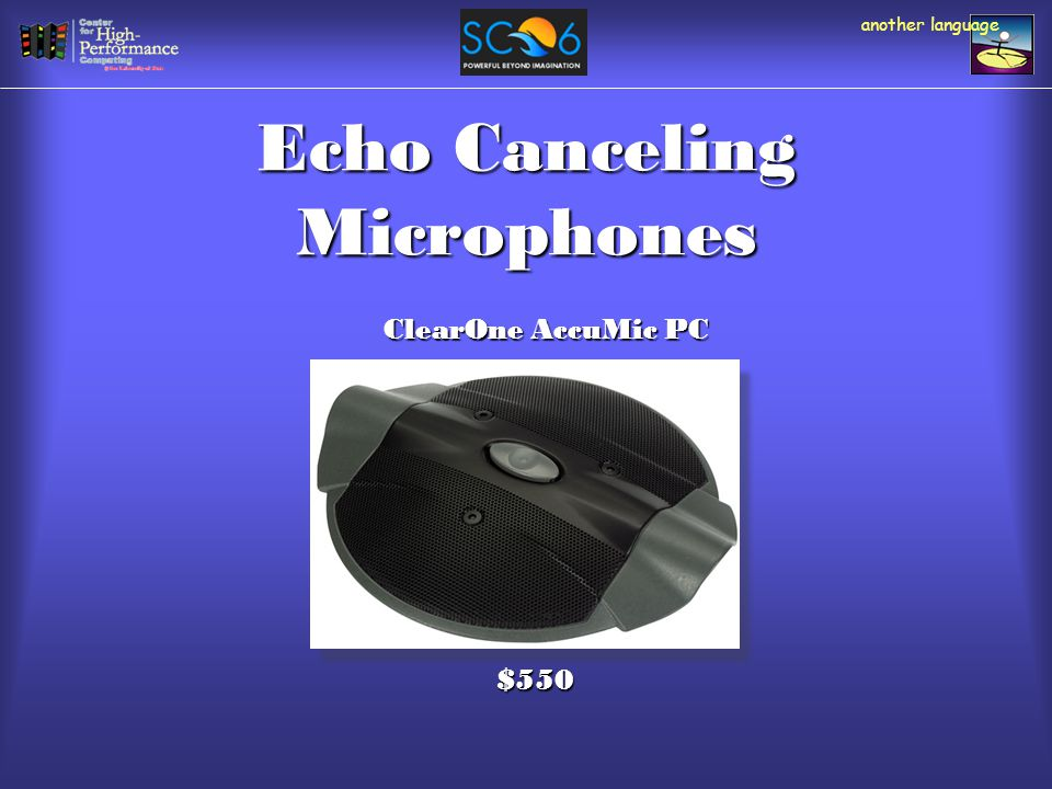 Echo Canceling Microphones another language ClearOne AccuMic PC $550