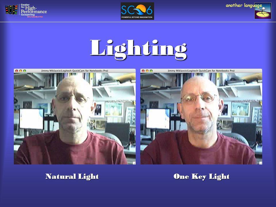 Lighting another language