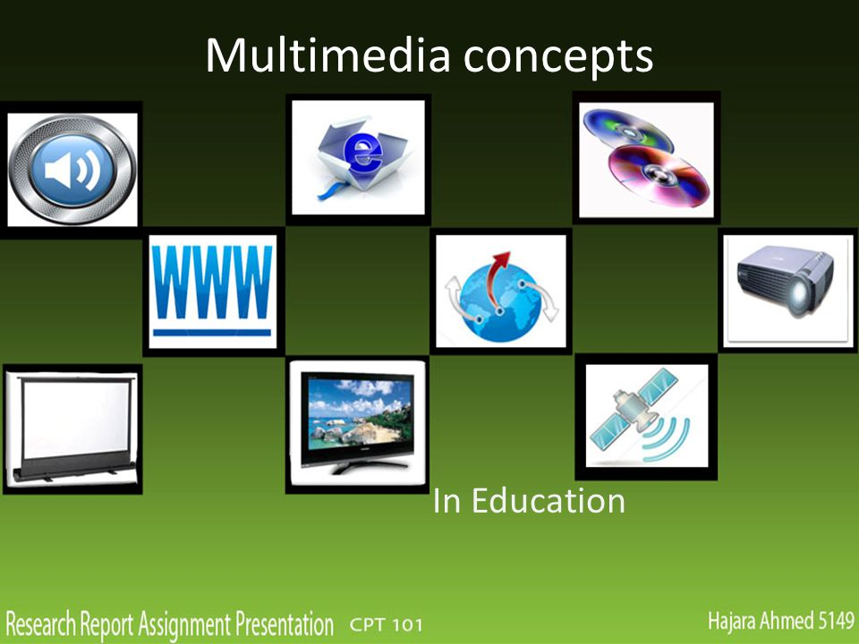 Multimedia concepts In Education
