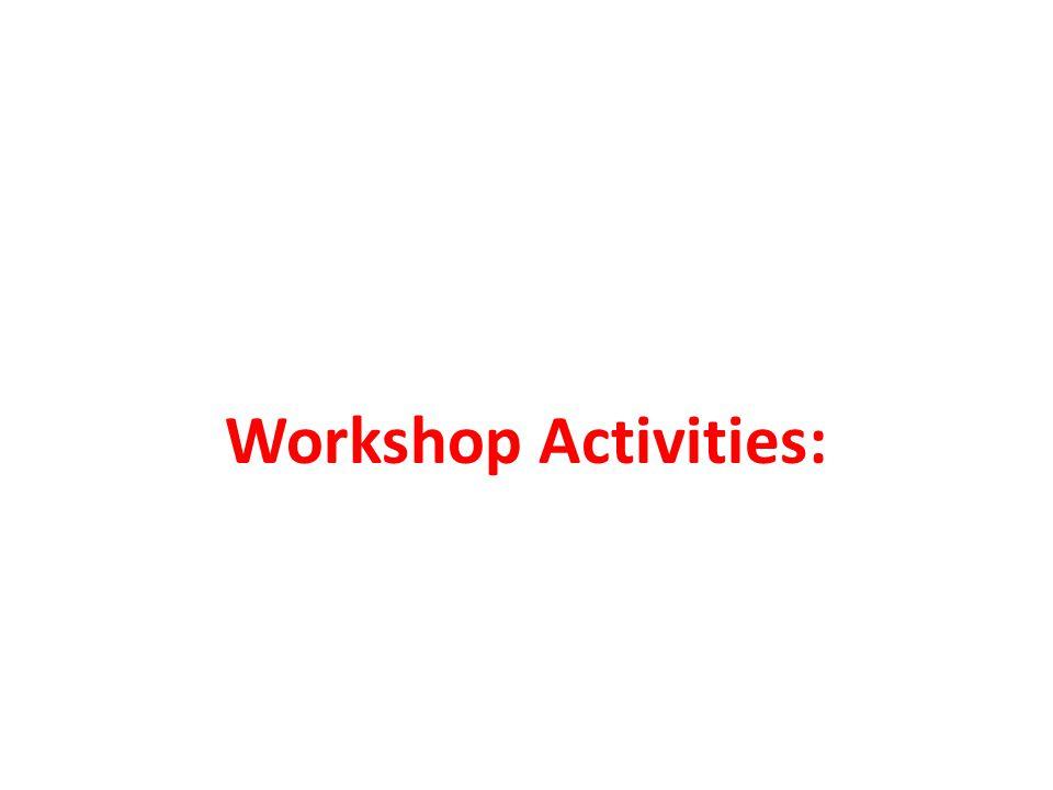 Workshop Activities: