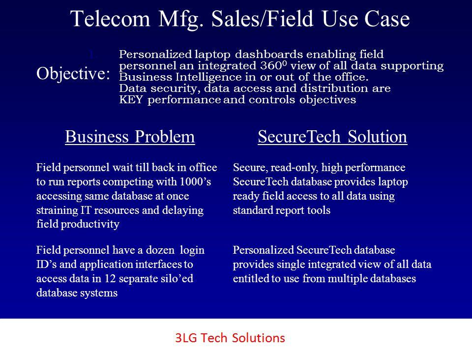 3LG SecureTech Telecom Mfg.Sales/Field Use Case 1.