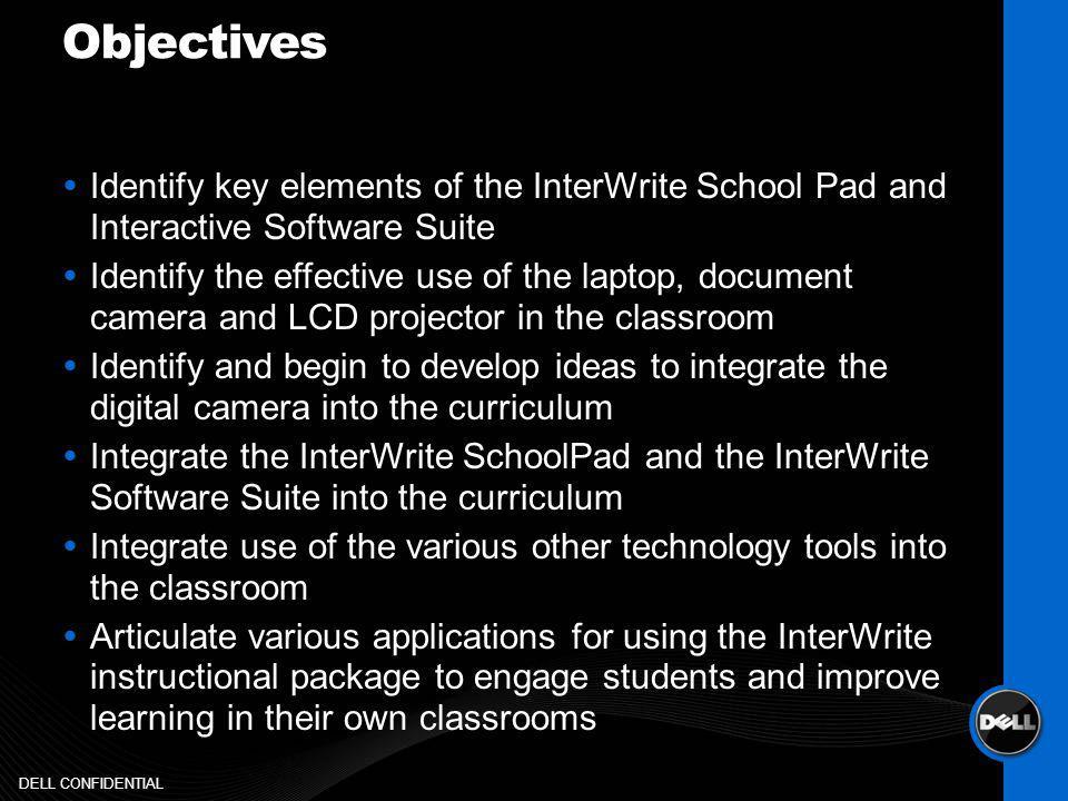 InterWrite Interactive School Pad DELL CONFIDENTIAL