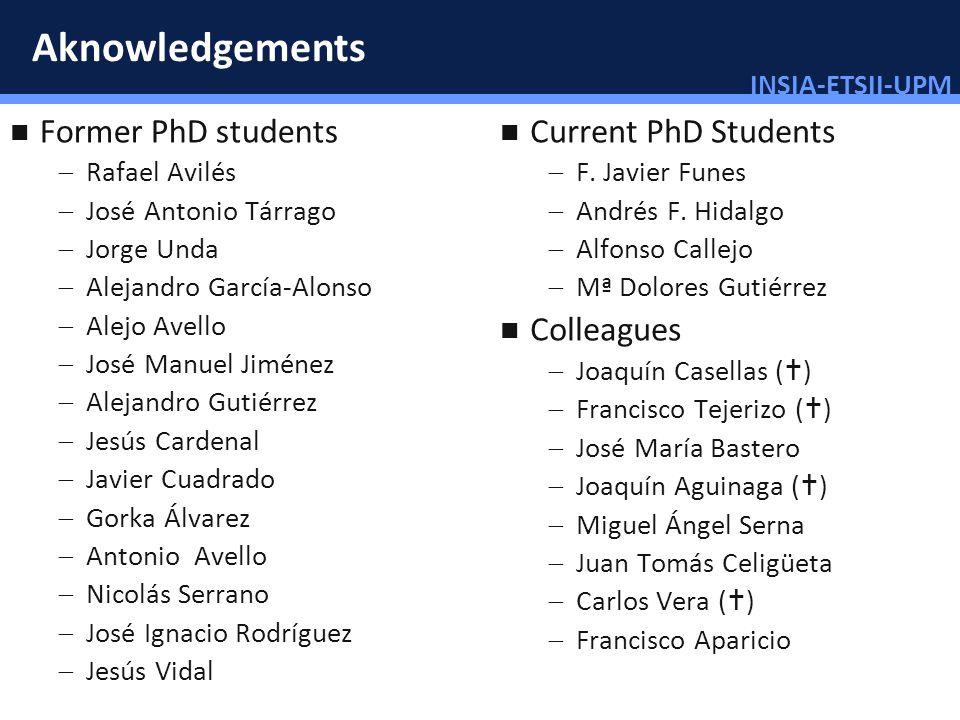 INSIA-ETSII-UPM 3/46 Aknowledgements Former PhD students Rafael Avilés José Antonio Tárrago Jorge Unda Alejandro García-Alonso Alejo Avello José Manue