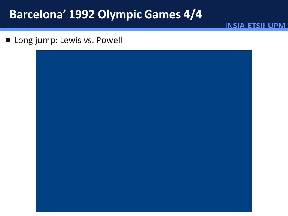 INSIA-ETSII-UPM 46/46 Deo omnis gloria! Barcelona 1992 Olympic Games 4/4 Long jump: Lewis vs. Powell