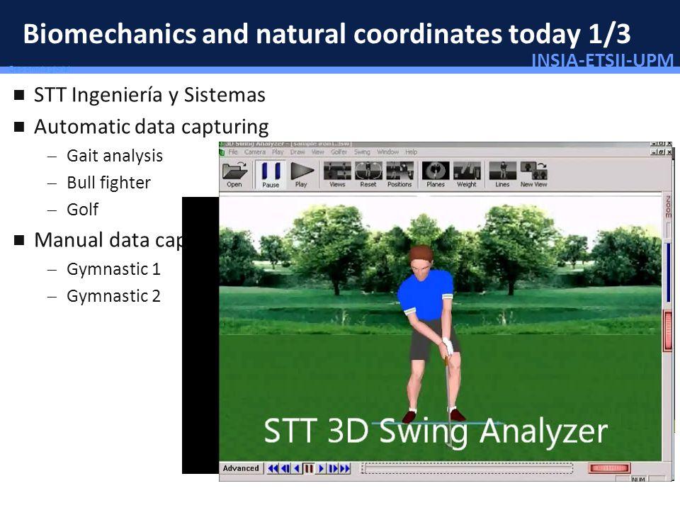 INSIA-ETSII-UPM 47/46 Deo omnis gloria! Biomechanics and natural coordinates today 1/3 STT Ingeniería y Sistemas Automatic data capturing Gait analysi
