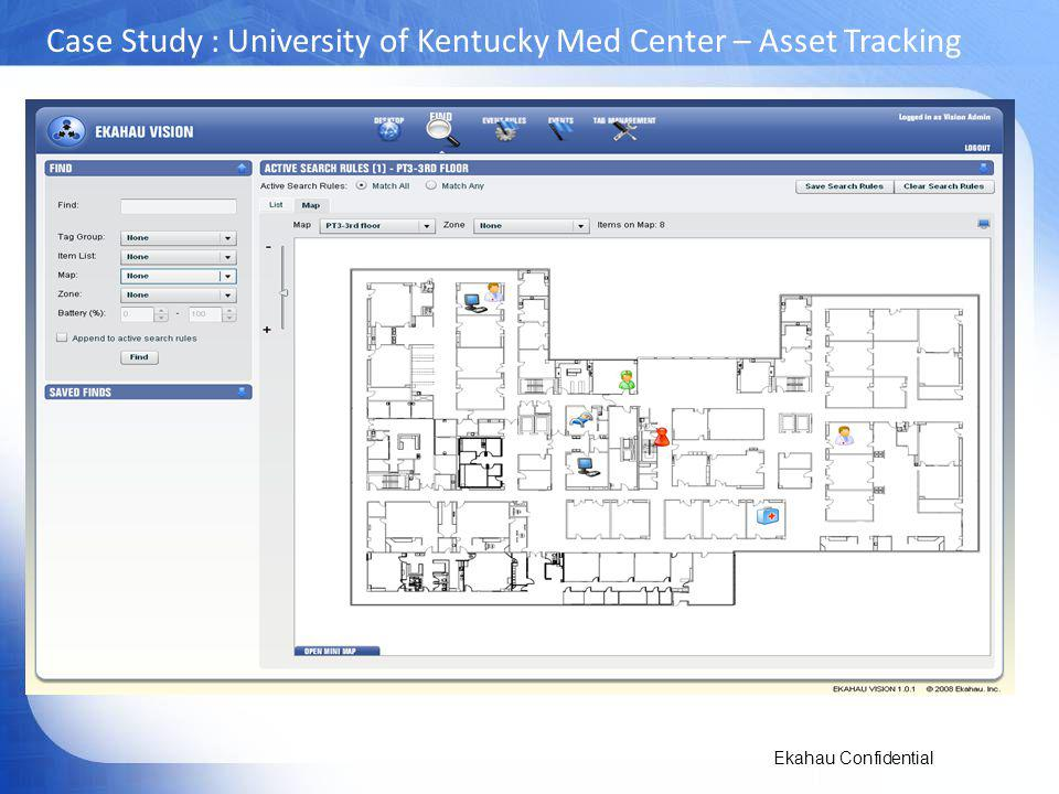 Ekahau Confidential Case Study : University of Kentucky Med Center – Asset Tracking
