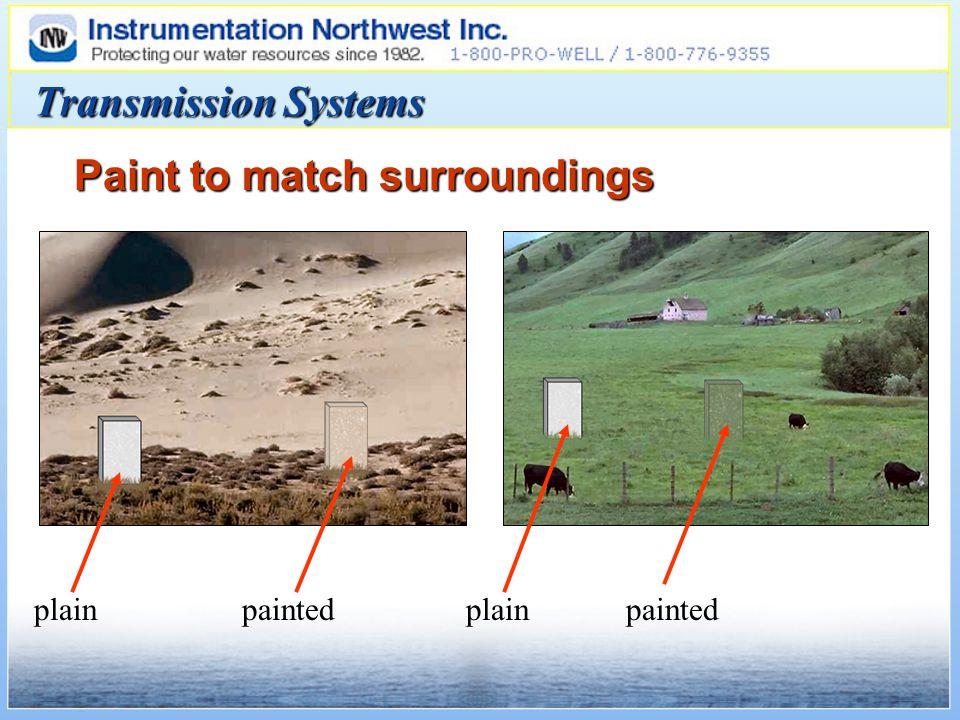 Transmission Systems Paint to match surroundings plainpaintedplainpainted