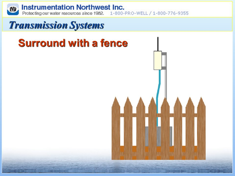 Transmission Systems Surround with a fence