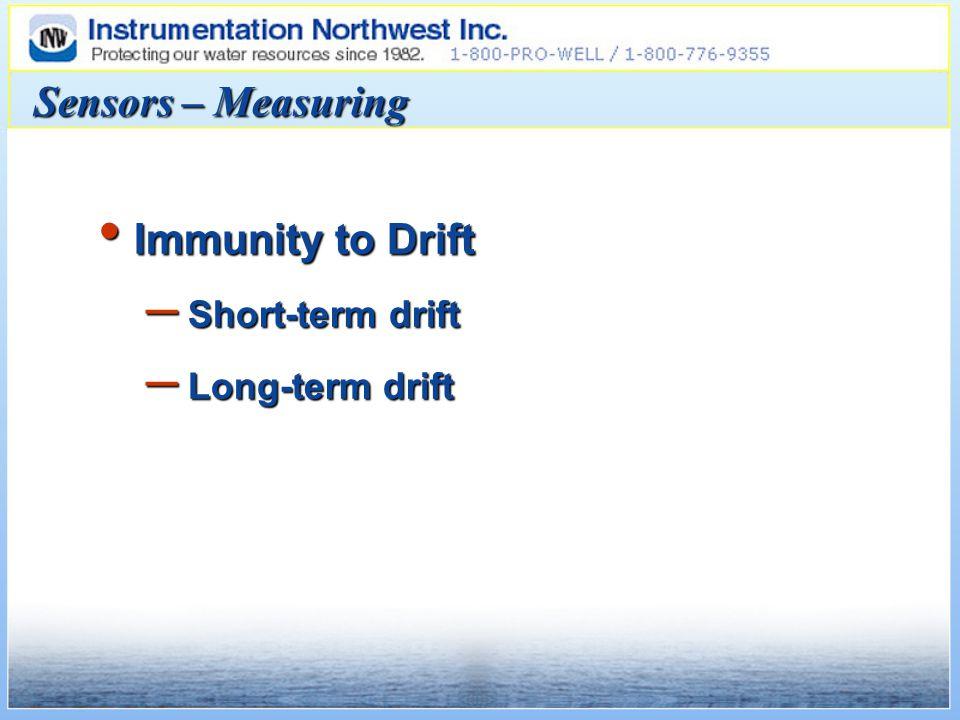 Sensors – Measuring Immunity to Drift Immunity to Drift – Short-term drift – Long-term drift