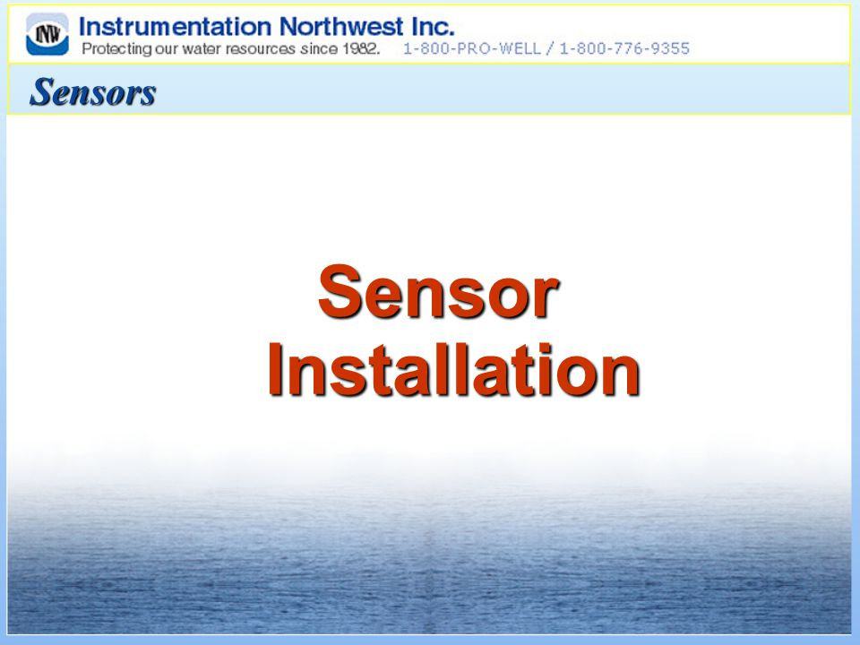 Sensors Sensor Installation