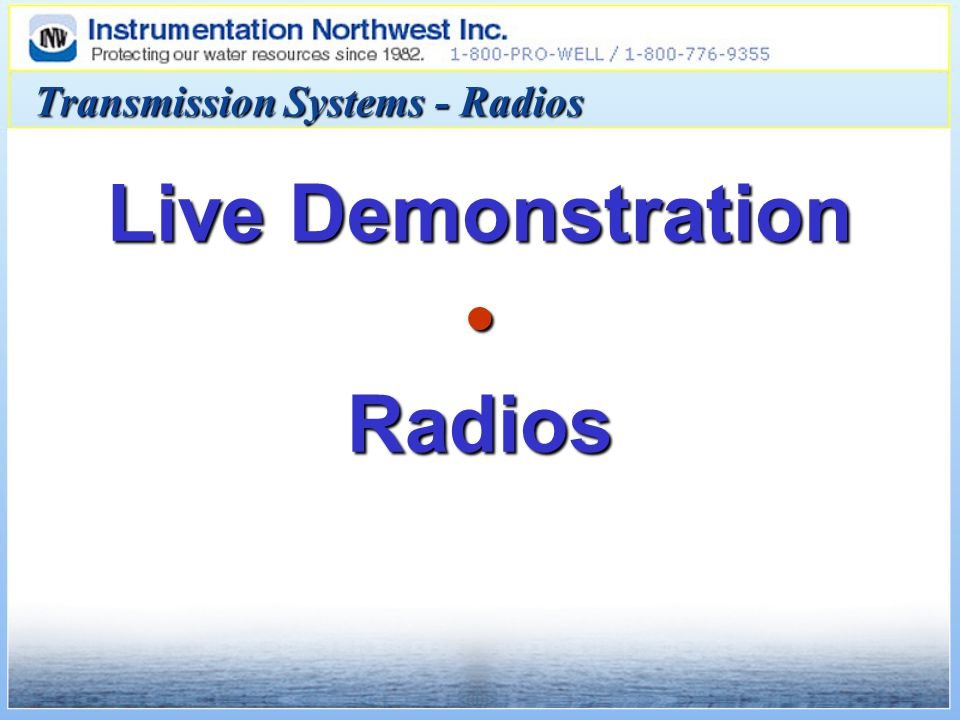 Transmission Systems - Radios Live Demonstration Radios