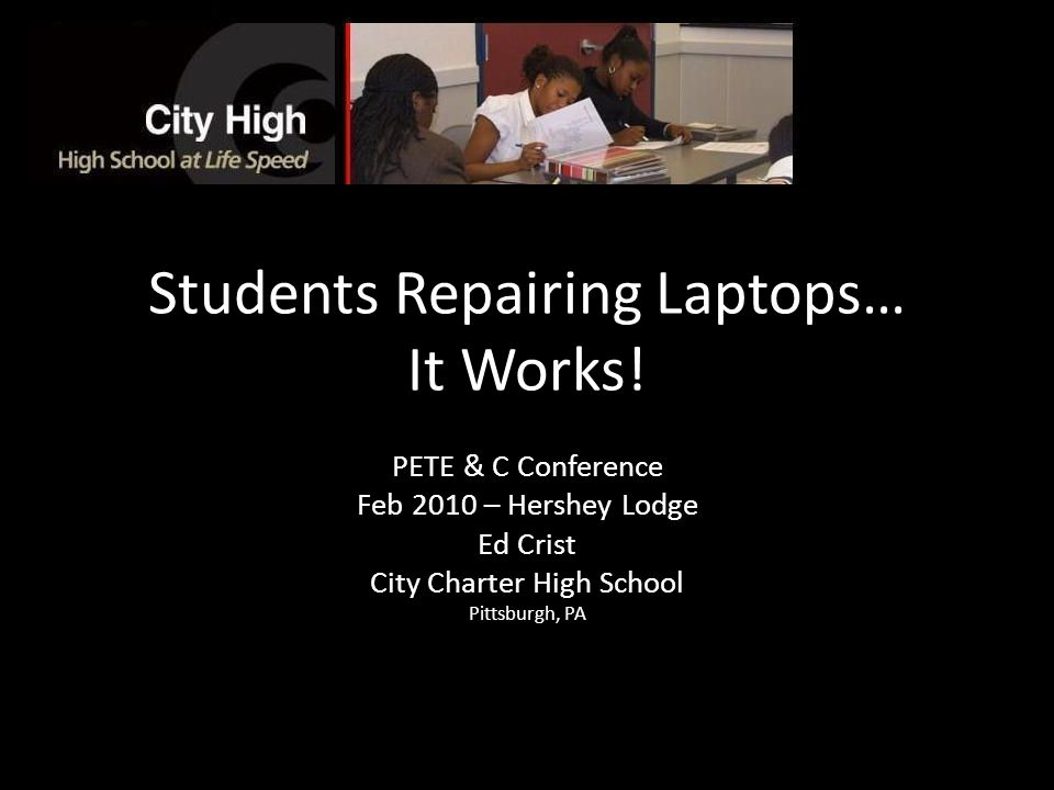 Students Repairing Laptops… It Works.
