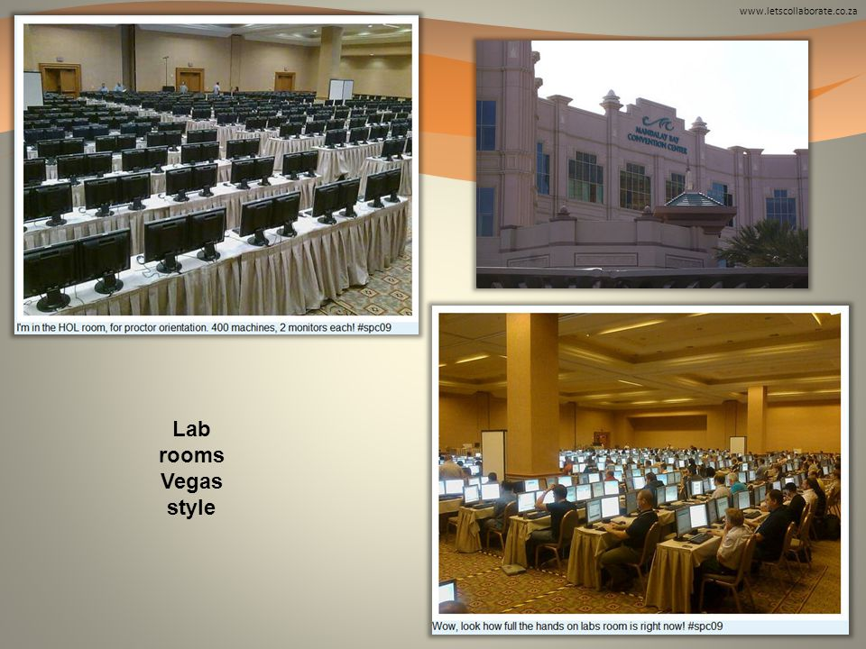 www.letscollaborate.co.za Lab rooms Vegas style