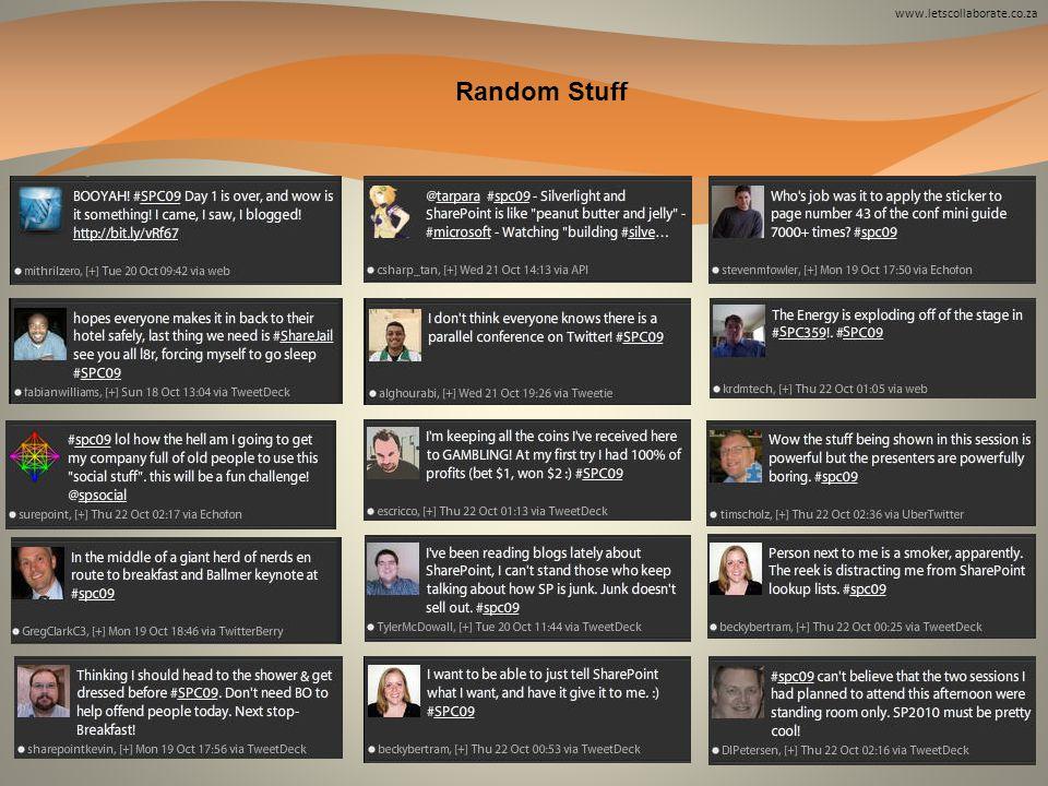 www.letscollaborate.co.za Random Stuff