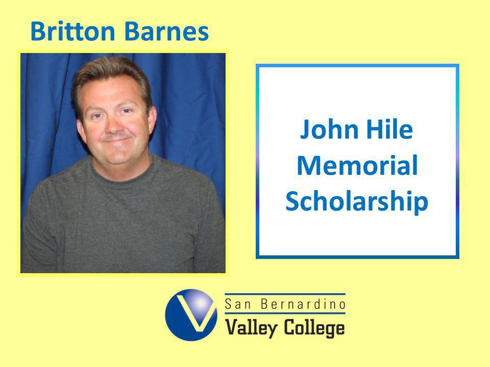 Britton Barnes John Hile Memorial Scholarship