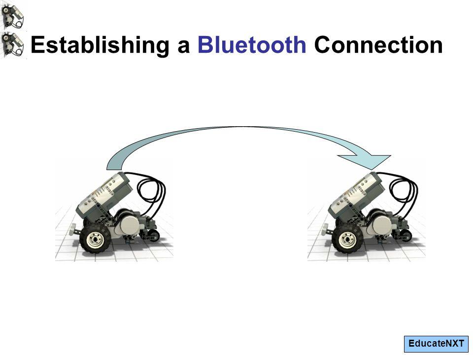 EducateNXT Establishing a Bluetooth Connection