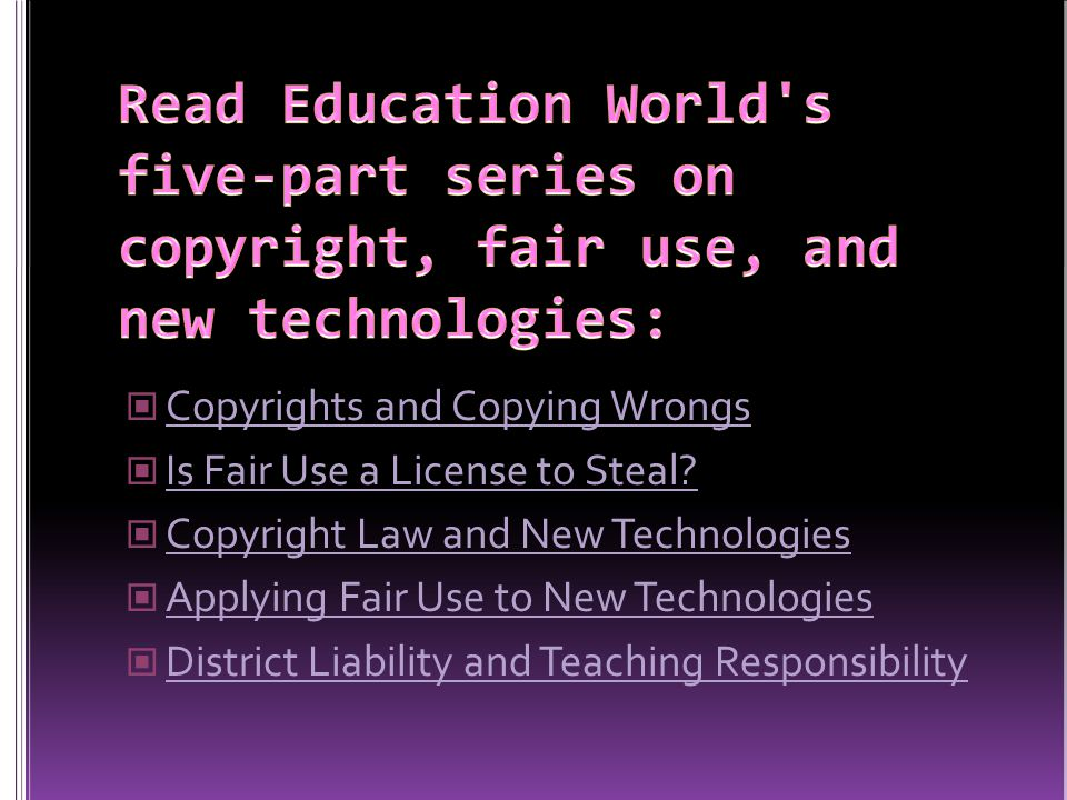 Copyrights and Copying Wrongs Is Fair Use a License to Steal.