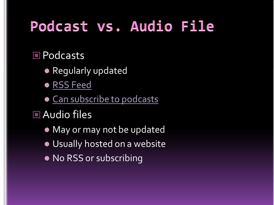 Create MP3s with Audacity Post MP3s Podcatch with iTunes