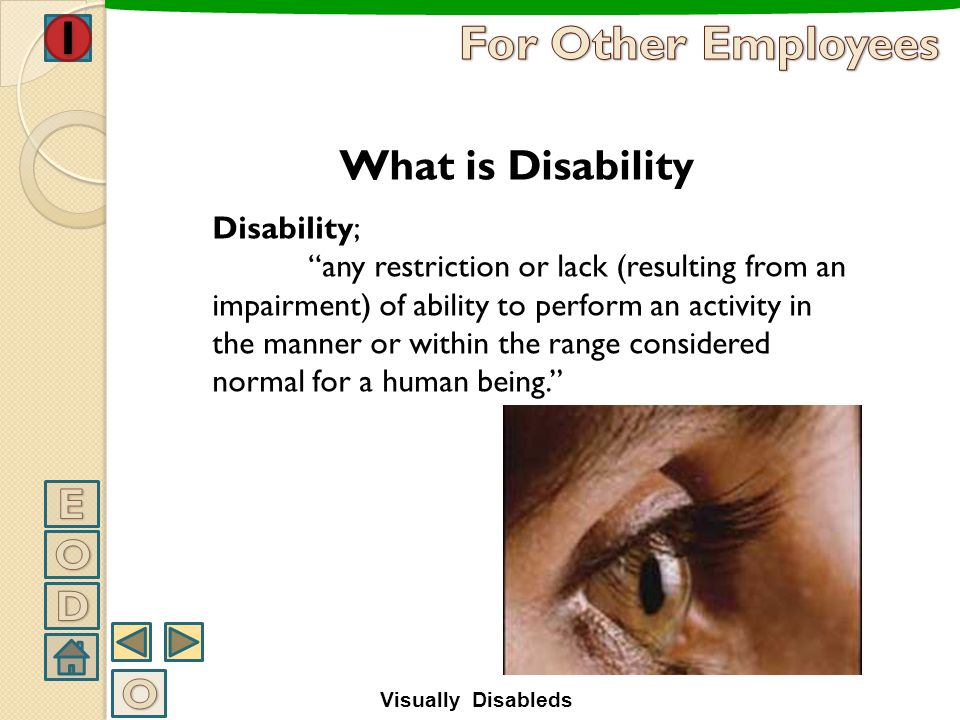 How To Work With Visually Disabled People Visually Disableds