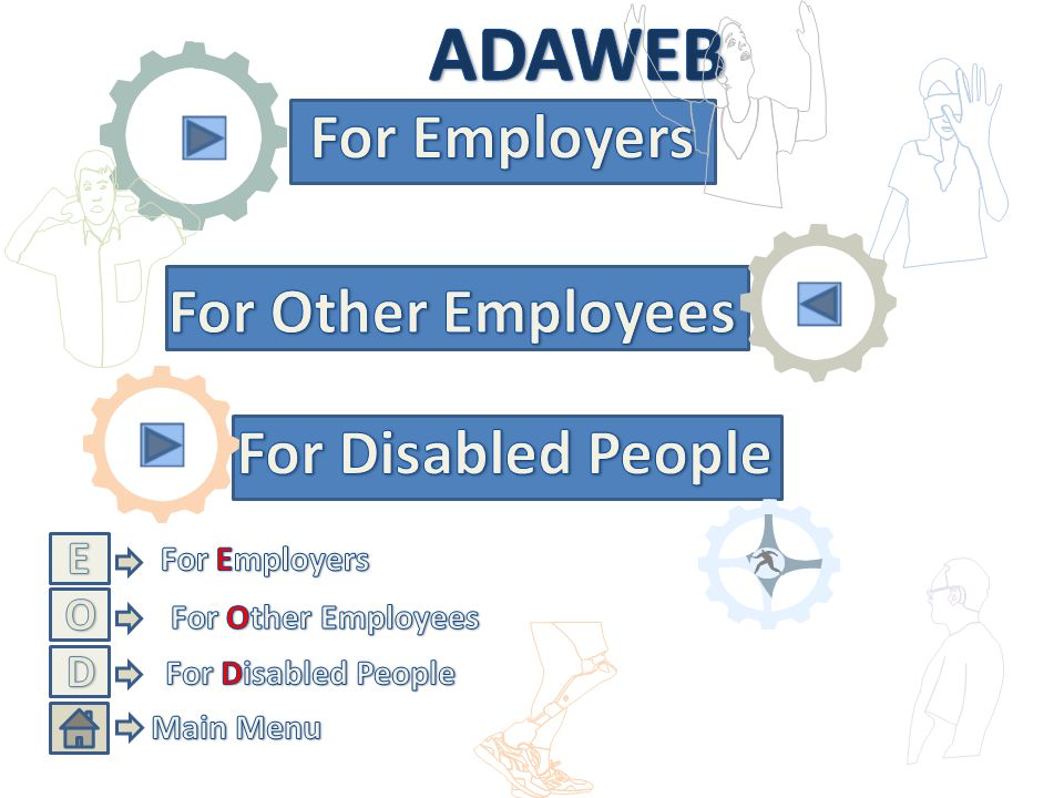Start This CD provides information for disabled employees, employers and other employees about employment of disabled people.