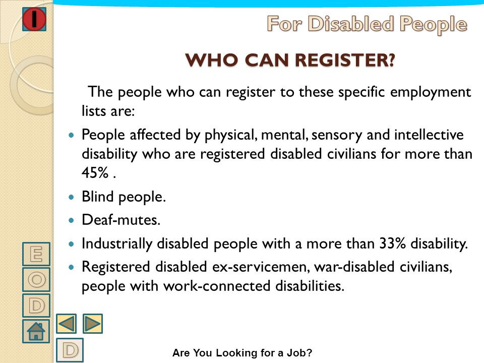 TARGET-ORIENTED EMPLOYMENT With this expression it is meant a specific method for introduction of disabled people to the job context. Starting from th