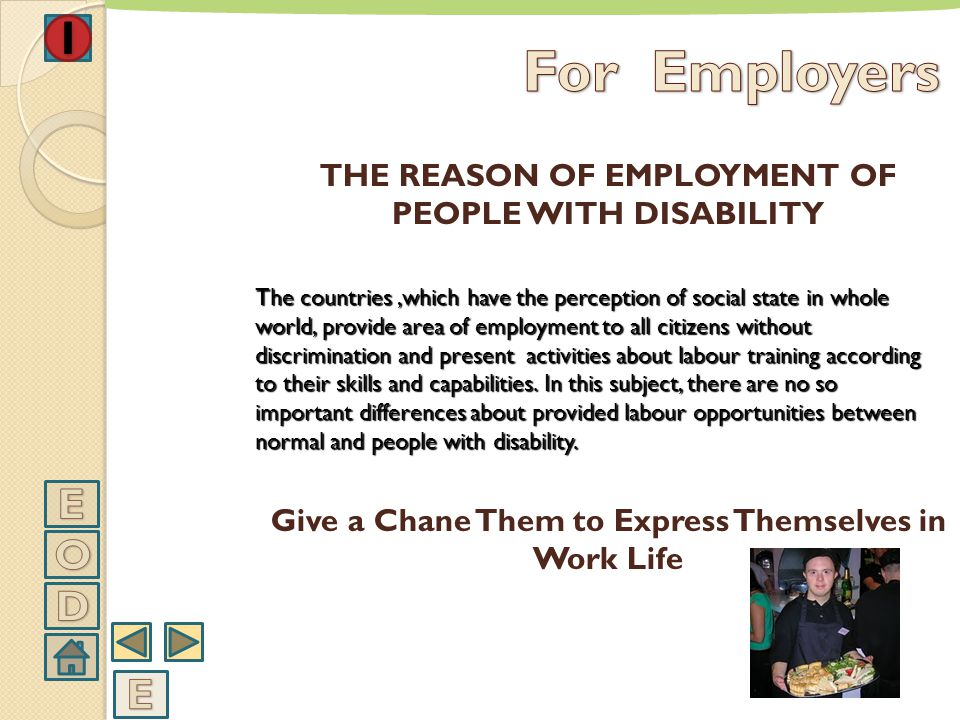 PARTICIPATION OF PEOPLE WITH DISABILITY TO WORK LIFE EMPLOYER TRAINING
