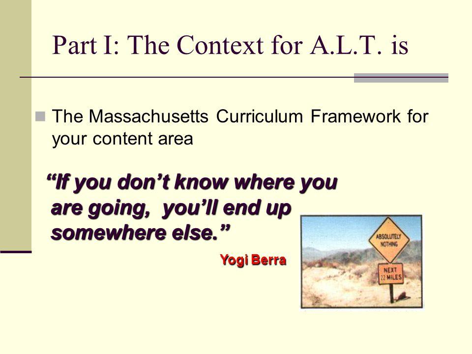 The Curriculum: Focuses what teachers do.Connects what teachers do.