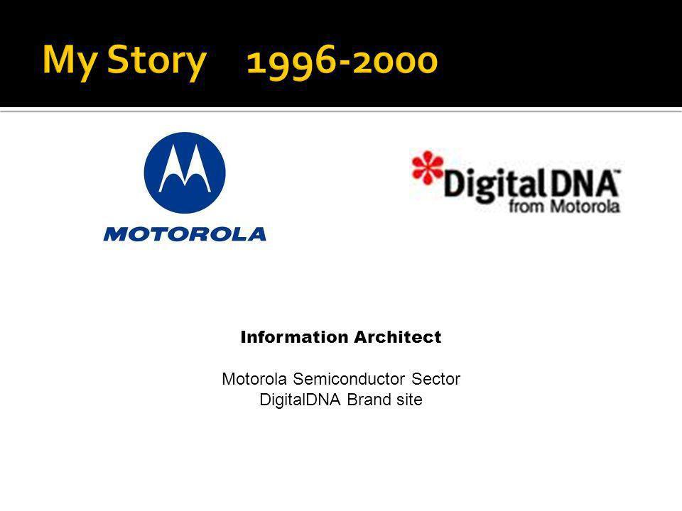 Information Architect Motorola Semiconductor Sector DigitalDNA Brand site