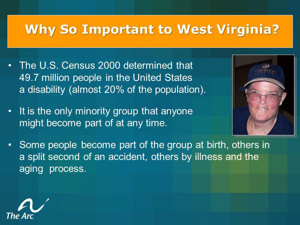 Fast Facts: West Virginia has the highest per capita rate of disabilities in the United States.