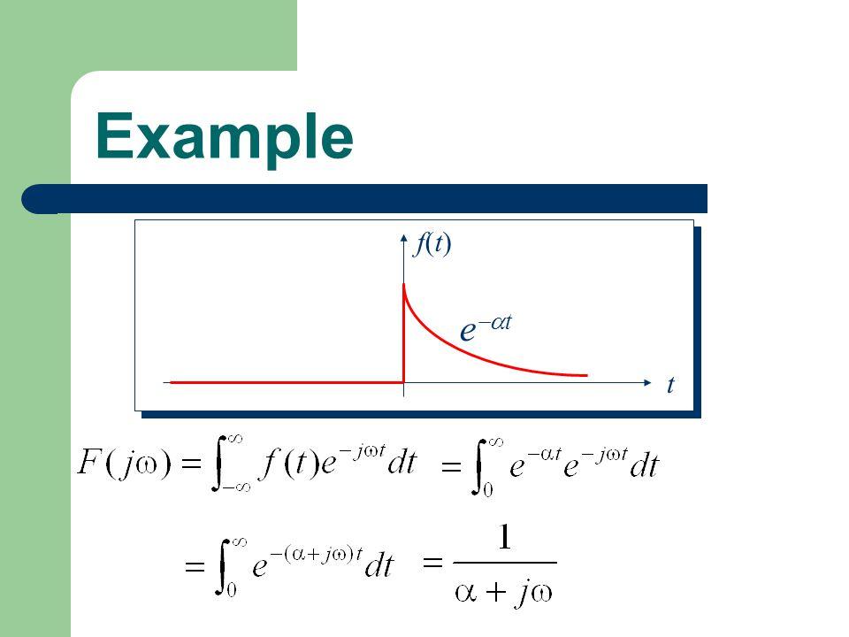Example t f(t)f(t) e t