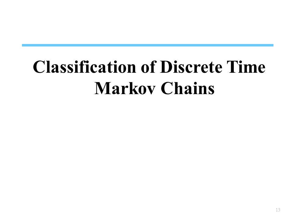 13 Classification of Discrete Time Markov Chains