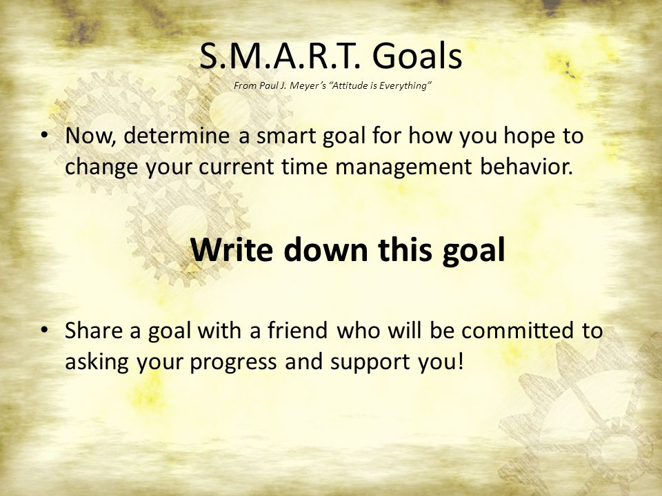 S.M.A.R.T. Goals From Paul J.