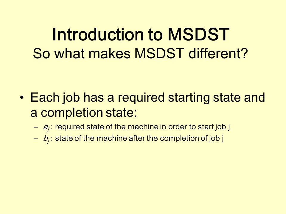 Introduction to MSDST So what makes MSDST different.